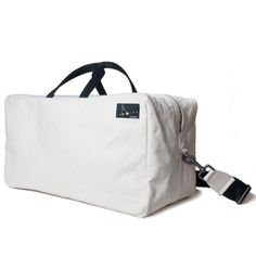 Canvas Weekend Bag..I like this, But...LOL white??