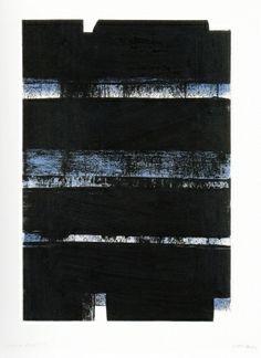 Litografia - Pierre Soulages - N 3 2 a