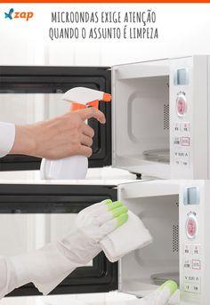 Apesar de ser um eletrodoméstico responsável por receber alimentos, o microondas não é uma fonte de bactérias na cozinha. Anote algumas dicas para deixar o eletrodoméstico sempre limpo e pronto para ser usado.