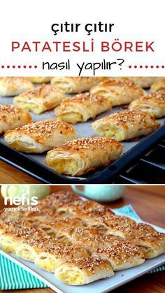 Mutlaka Beğeni Alacak! Çıtır Çıtır Patatesli Börek Tarifi nasıl yapılır? 8.587 kişinin defterindeki bu tarifin resimli anlatımı ve deneyenlerin fotoğrafları burada. Yazar: Melek Şerbetci Turkish Recipes, Italian Recipes, Turkish Sweets, Fish And Meat, Fresh Fruits And Vegetables, Breakfast Recipes, Food And Drink, Appetizers, Stuffed Peppers
