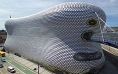 The Selfridges Building in Bullring shopping centre in Birmingham, England; adorned with sun-catching aluminum discs ; designed by Future Systems