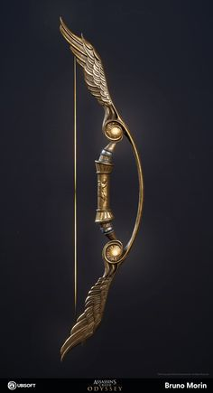 Anel Harry Potter, Pretty Knives, Armas Ninja, Sword Design, Assassins Creed Odyssey, Anime Weapons, Swords And Daggers, Bow Arrows, Weapon Concept Art