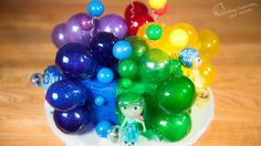 Inside Out Cake with Gelatin Bubbles