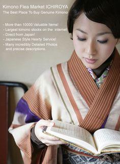 Ichiroya - Japanese Flea Market. Lots of beautiful kimono fabric for Shibori inspiration or to buy.