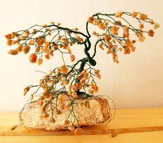 Wire Bonsai GEM TREE Sculpture // Autumn by spiritgemdesigns, $77.00