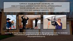 Leesburg VA Garage Door Repair & Service in Virginia. Best garage door repair for residential and commercial garage doors & openers. We fix all garage doors