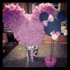 Minnie Mouse Birthday Centerpieces for kennedys 2nd birthday
