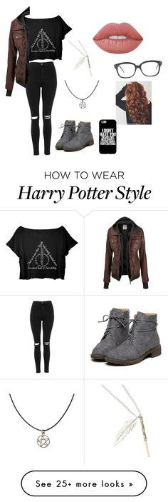 """My drama outfit"" by sophie295 on Polyvore featuring Topshop, CÉLINE and Lime Crime"