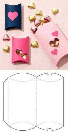Box for sweets in pink - Pink Box, - Basteln - Origami Diy Gift Box, Diy Box, Diy Gifts, Gift Boxes, Valentines Bricolage, Valentines Diy, Paper Gifts, Diy Paper, Paper Crafting
