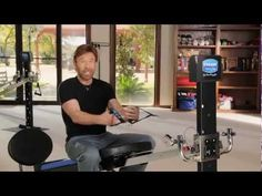 Workout Tips - Video : Chuck Norris - Total Gym Tricep Workout Routine - Virtual Fitness Total Gym Workouts, Gym Workouts Women, Abs Workout For Women, At Home Workouts, Quick Workouts, Tricep Workout Routine, Gym Routine, Workout Ideas, Chuck Norris
