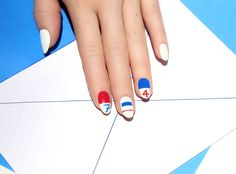 See Exactly How to Nail This Festive Fourth of July Manicure from InStyle.com