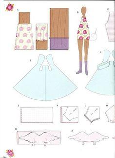Blog de artesanato em geral , com passo a passo , com fotos e gratuito. Doll Clothes Patterns, Doll Patterns, Clothing Patterns, Fabric Dolls, Paper Dolls, Sewing Crafts, Sewing Projects, Manequin, Tilda Toy