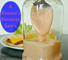 Organizer By Day: A Burger's Favorite Sauce Dip Recipes, Sauce Recipes, Cooking Recipes, Homemade Sauce, Chocolates, Hamburgers, Spreads, Yummy Burger, Check
