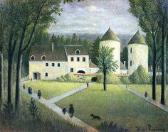 HENRI ROUSSEAU: PAYSAGE AU MANOIR (1895)