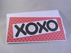 Grußkarte XOXO Gutschein Eintrittskarten von Frollein KarLa auf DaWanda.com