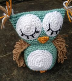 Sleepy Owl Plush - Crochet Pattern. $4.99, via Etsy.