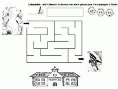 Maternelle: Calinours va à l'école : labyrinthe Diagram, Math, Morgan, Teddy Bear, Albums, Coloring, Management, Back To School, Nursery School