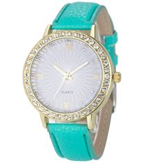 Fashion Women Diamond Analog Leather Quartz Wrist Watch Watches