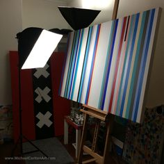 Megastripe painting in progress...