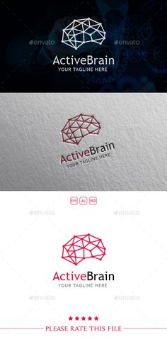 keywords: brain logo design corporate neurology science technology tech healthcare network networking connection