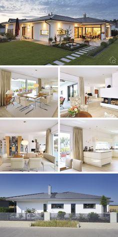 Modern Bungalow Exterior, Modern Farmhouse Exterior, Dream House Exterior, House Plans Mansion, Bungalow House Plans, Dream House Plans, Modern Architecture Design, Modern House Design, House Architecture