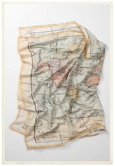 cartographic scarf