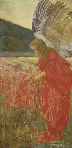 elespleendeparis:František Urban (1868 - 1919): Ángel.
