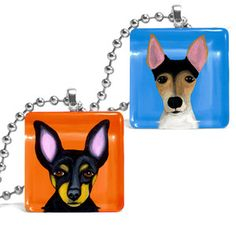 Rat Terrier Necklace Set Of 2 now featured on Fab.