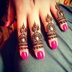 Henna finger design  #hennabydivya