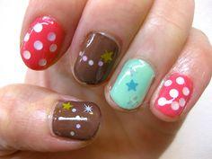 gel nail チッピ marble-choco* nail / kayo
