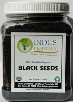 Indus Organics Black Seeds, Black Cumin, (Nigella Sativa), 1 Lb - Nigella sativa seed is variously called Black cumin, fennel flower, nutmeg flower, Roman coriander, blackseed, black caraway, or black onion seed. Other names used, sometimes misleadingly, are onion s... - Allergy, Sinus & Asthma - Health by sara