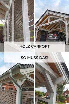 Carport mit Satteldach nach Mass - so individuell wie die Wünsche unserer Kunden. Carport-Onlineshop bei steda natürlich