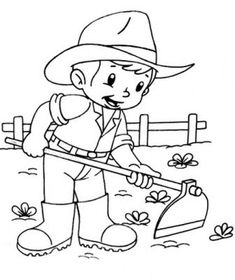 dibujos del campesino para pintar Flower Coloring Sheets, Animal Coloring Pages, Colouring Pages, Coloring Books, Preschool Coloring Pages, Printable Coloring Pages, Coloring Pages For Kids, Art Drawings For Kids, Drawing For Kids