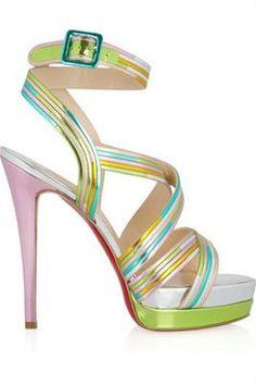 Drool!!!  Christian Louboutin Meteorita sandals. 1,795.00  Net-A-Porter.