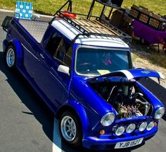 Mini Cooper Pick up Work! Mini Cooper Classic, Mini Cooper S, Classic Mini, Classic Cars, Mini Trucks, Cool Trucks, Cool Cars, Mini Morris, Hot Rods