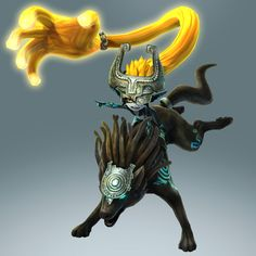 Hyrule Warriors new official promo art : Midna and a twilight wolf