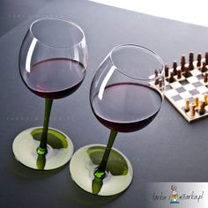 Kieliszki bujające do wina Rocking