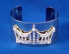 Rhinestone Crown Wrist Cuff