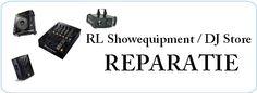 Bij RL Showequipment / DJ Store repareren we alle bekende merken zoals Pioneer, Numark, Denon etc. http://www.djstore.nl/content/9-reparatie-en-installatie-van-apparatuur
