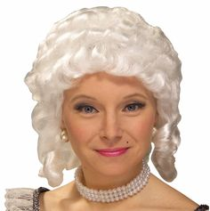 Women's Colonial Adult Wig (White) from Buycostumes.com