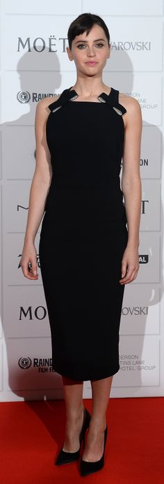 Felicity Jones | Burberry Bow Black Dress | British Independent Film Awards, London