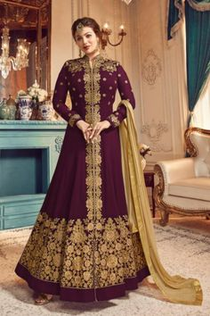 Price- Rs 2295 + Shipping extra  Top- Real Georgette |  Bottom-Dull santoon 2.5 mtr |  Inner- Dull santoon 2.25 mtr |  Dupata-real najneen with diamond ?? n four side border |   #Floorlengthsuit #Gown #PartywearGown