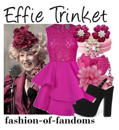 """""""Effie Trinket"""" by fofandoms ❤ liked on Polyvore featuring Nancy Gonzalez, SHOUROUK, Ally Fashion and Mixit"""