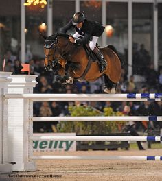 Nick Skelton and Big Star finished fourth in the 2013 $300,000 Wellington FEI World Cup CSI-W. Mollie Bailey Photo.
