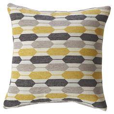 Mercury Row Yellow Geoprint Pillow
