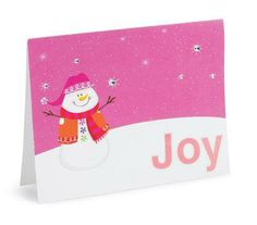 Snowman Joy Christmas Card