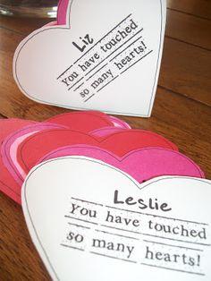 Valentine Idea.  Also great for Teacher Appreciation.