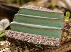 """Seifenschalen - Seifenablage """"Trockenwelle groß"""" mint - ein Designerstück von SILKERAMIK bei DaWanda"""