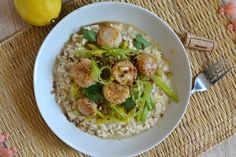 Risotto de Saint-Jacques aux poireaux : la recette de chef facile et maison