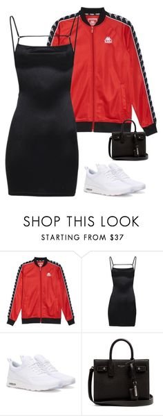 """Sem título #2064"" by hosana-317 ❤ liked on Polyvore featuring Kappa, NIKE and Yves Saint Laurent"